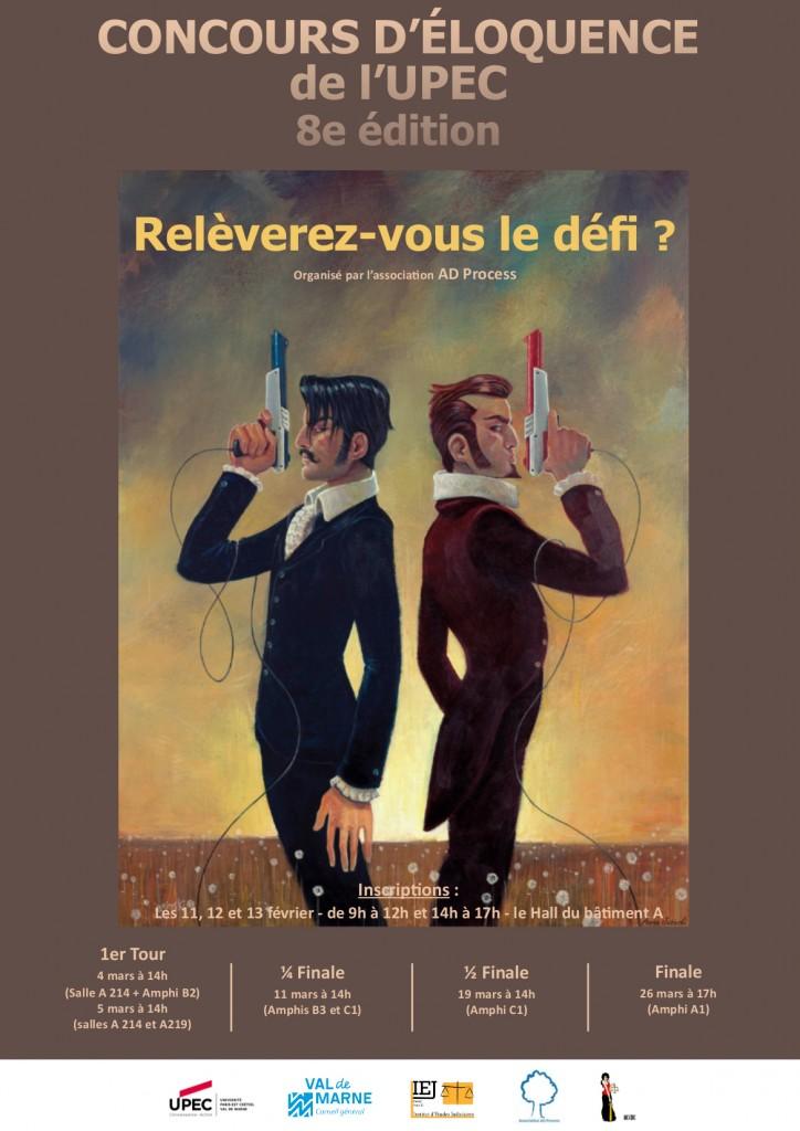 Affiche concours d'éloquence 2015